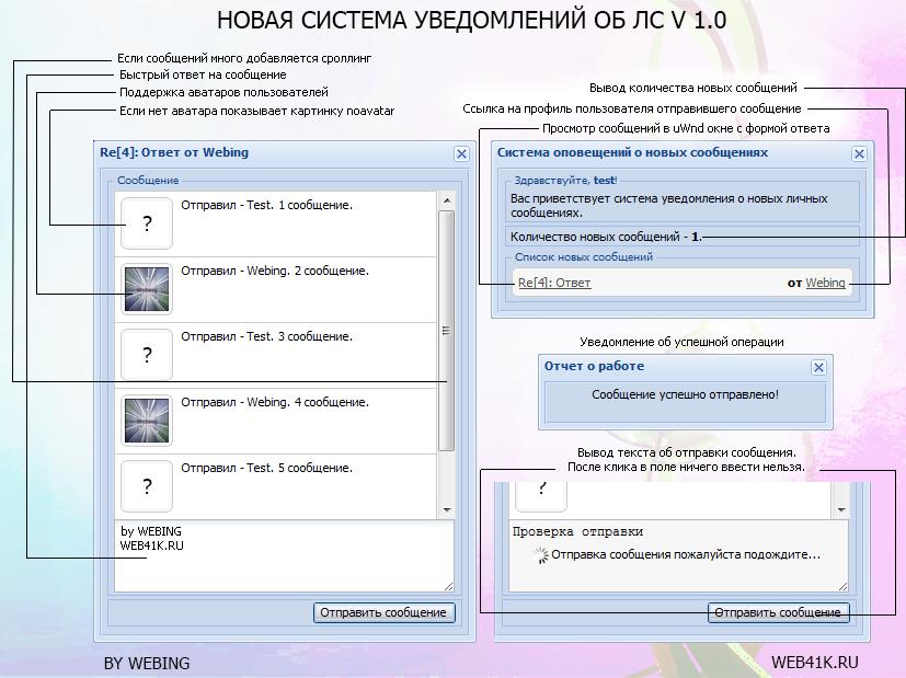 Новая система уведомлений об ЛС v 1.0